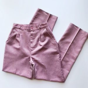 Vintage · dusty rose high rise trousers